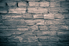 Old brick wall monochrome Royalty Free Stock Image