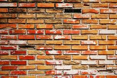 Old brick wall old. Old brick wall abstract architecture background Stock Photo