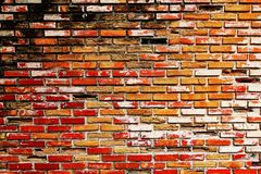 Old brick wall old. Old brick wall abstract architecture background Royalty Free Stock Photography