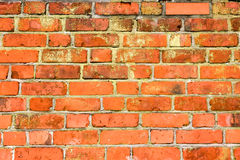 Old brick wall. An old orange/red brick wall Stock Photography