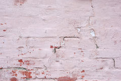 Old brick wall painted background. Royalty Free Stock Image
