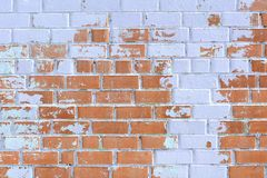 Old brick wall painted violet copyspace Stock Images