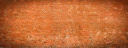 Old Brick wall panoramic view. Royalty Free Stock Photos