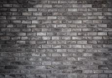 Retro style of old brick gray wall stock photo