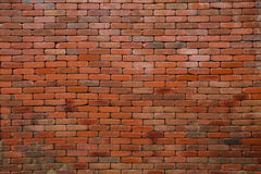 Old brick wall pattern use as construction background,floor and Stock Photo