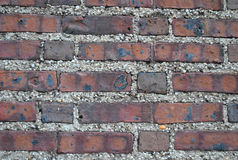 Old brick wall with pebble mortar. Background - old brick wall with pebble mortar from Philadelphia, Pennsylvania royalty free stock image