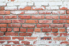 Old brick wall. With peeling off paint Royalty Free Stock Image