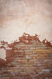 Old brick wall, perfect grunge background stock illustration