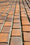 Old brick wall perspective Stock Photos