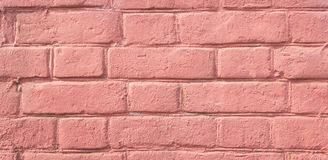 Old brick wall of pink color Royalty Free Stock Photo