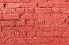 Old brick wall of pink color Royalty Free Stock Images