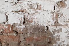 Old brick wall with plaster background Stock Photos