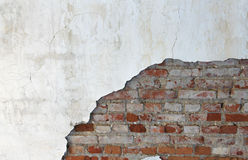 Old brick wall and plaster Royalty Free Stock Photos