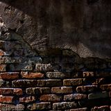 Old brick wall and plaster. Element of design. Royalty Free Stock Images