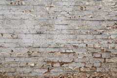 Old brick wall with plasterwork Royalty Free Stock Images