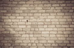 Old brick. Wall in the production area of the plant royalty free stock photos