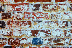 Old brick. Wall from a red stone Stock Images