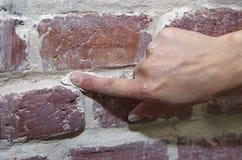 Old brick wall repairing Royalty Free Stock Photos