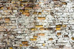 The old brick wall with rich texture Royalty Free Stock Photos