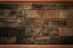 old brick wall room, Stock Image