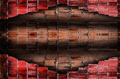 Old brick wall room,Perspective. Royalty Free Stock Images