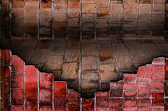 Old brick wall room,Perspective. Royalty Free Stock Image