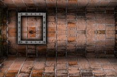 Old brick wall room,Perspective. Royalty Free Stock Photography