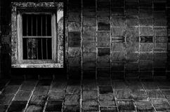 Old brick wall room,Perspective. Royalty Free Stock Photo