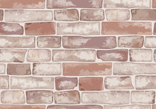 Old brick wall. Seamless texture. Vector illustration Stock Image