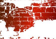 Old brick wall, stained whitewash Royalty Free Stock Photography