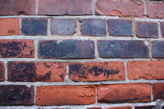 Old Brick Wall Texture. An old brick wall showing signs of damage Stock Images