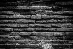Old brick wall. For texture or background,back and white Stock Image