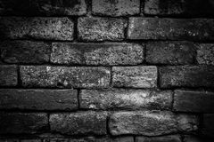 Old brick wall. For texture or background,back and white Royalty Free Stock Photos