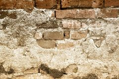 Old brick wall texture and background. Royalty Free Stock Photography