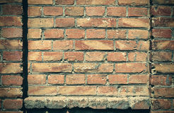 Old brick wall for texture or background, dark color, architectural elements as a brick filled frame Royalty Free Stock Photo