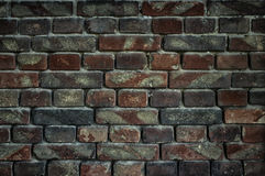 Old brick wall for texture or background, dark effect Royalty Free Stock Photos
