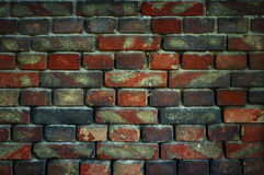 Old brick wall for texture or background, dark effect Royalty Free Stock Photo