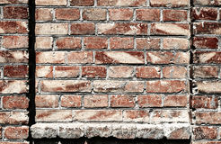 Old brick wall for texture or background, dark red color, architectural elements as a brick filled frame Royalty Free Stock Image