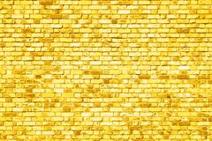 old brick wall texture background painted in yellow stock photo