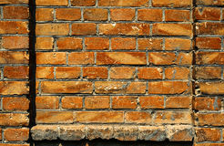 Old brick wall for texture or background, red and brown color, architectural elements as a brick filled frame Royalty Free Stock Photo