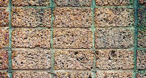 Old brick wall texture for background, vintage color tone Stock Photography