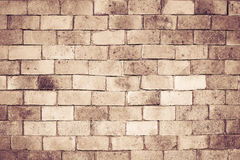 Old brick wall texture for background, vintage color tone Royalty Free Stock Images