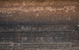 Old brick wall: Texture of dark vintage brickwork Royalty Free Stock Images