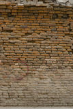 Old brick wall: Texture of vintage brickwork, Old cracked wall Royalty Free Stock Image
