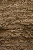 Old brick wall: Texture of vintage brickwork, Old cracked wall Stock Photography