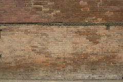 Old brick wall: Texture of vintage brickwork, Old cracked wall Stock Photo