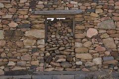 Old brick wall: Texture of vintage brickwork - stone brick Royalty Free Stock Photography