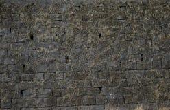 Old brick wall: Texture of vintage brickwork - stone brick Stock Photography