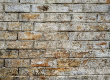 Old brick wall textured and background Royalty Free Stock Images