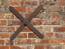 Old brick wall with tie bar Royalty Free Stock Image